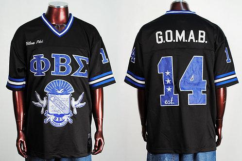 Phi Beta Sigma Football Jersey Black G.O.M.A.B