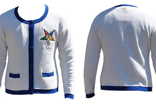 ORDER OF THE EASTERN STAR HEAVY CARDIGAN