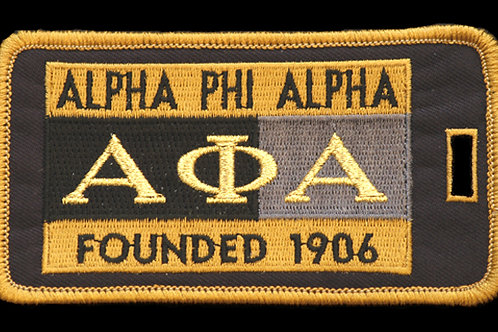 Alpha Phi Alpha Embroidered Luggage Tag