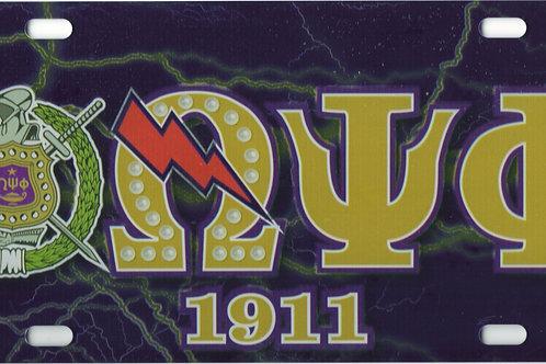 Omega Psi Phi - Printed Crest License Plate