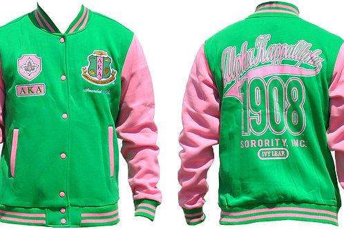 Alpha Kappa Alpha Fleece Jacket Green