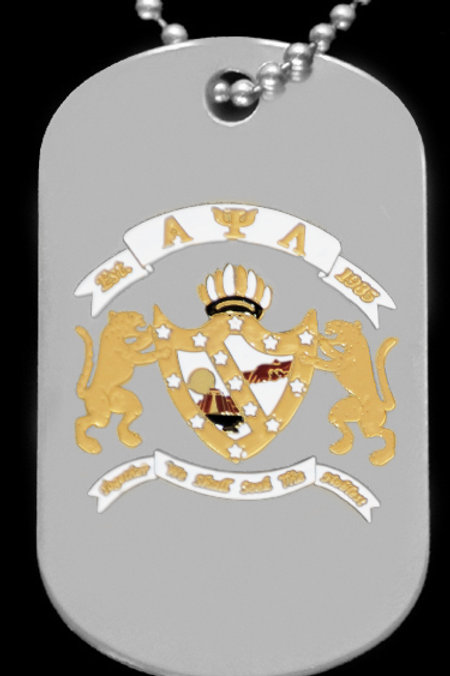 Alpha Psi Lambda Dog Tag w/chain