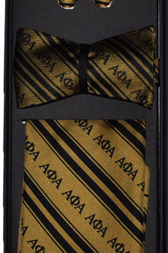 Alpha Phi Alpha Bow Tie Set