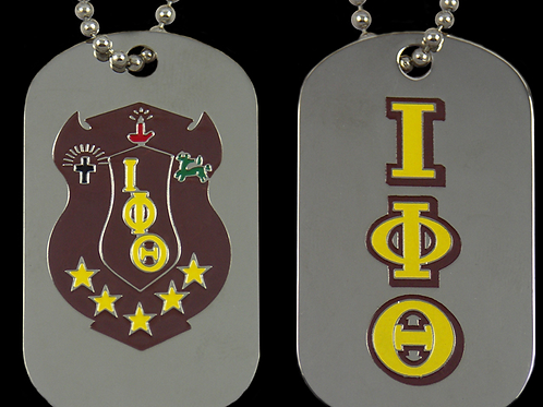IOTA PHI THETA DOUBLE SIDED DOG TAG