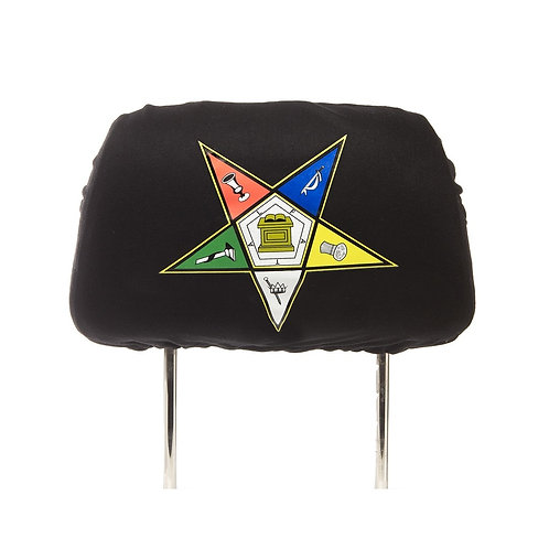 Order of The Eastern Star Black SUV Headrest Cover
