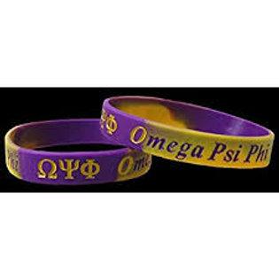 Omega Psi Phi 100% Silicone Bracelet