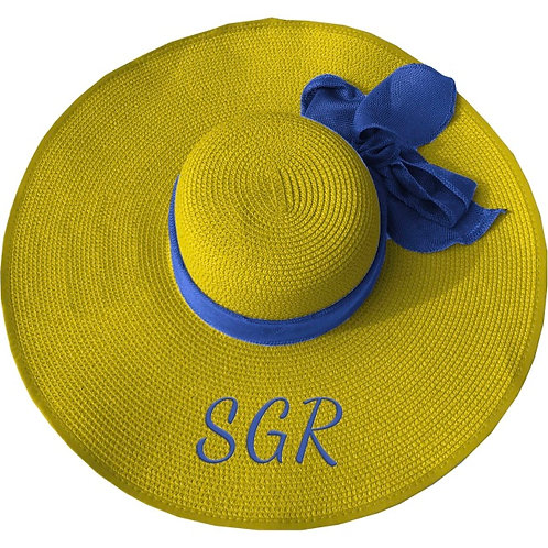 SIGMA GAMMA RHO FLOPPY HAT GOLD