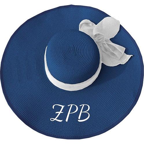 ZETA PHI BETA FLOPPY HAT BLUE