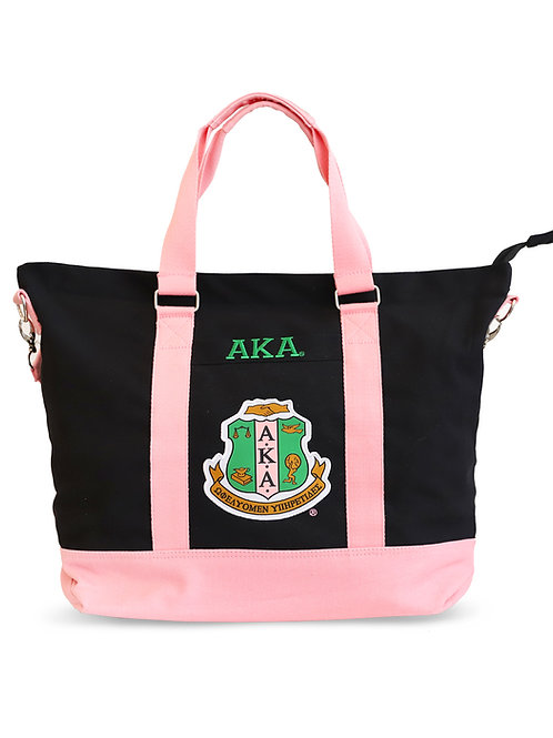 ALPHA KAPPA ALPHA BLACK CANVAS BAG