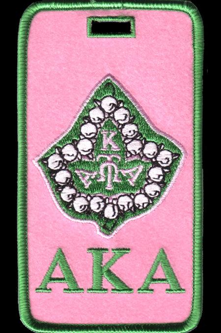 Alpha Kappa Alpha Embroidered Luggage Tag