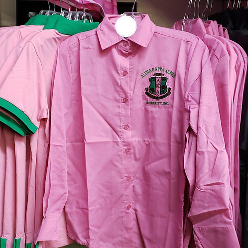 Alpha Kappa Alpha Long Sleeve Collar Shirt