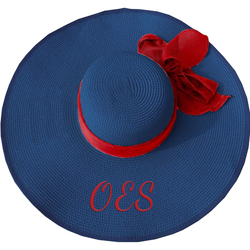 ORDER OF THE EASTERN STAR FLOPPY HAT BLUE