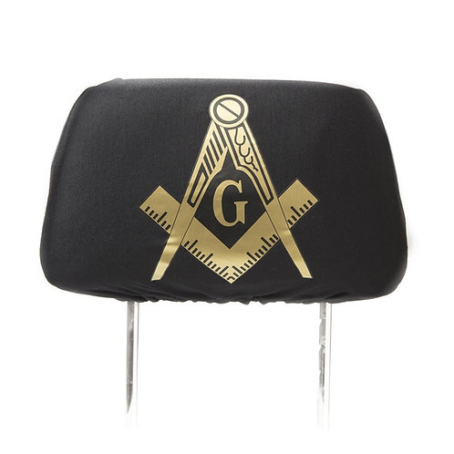 Mason Black SUV Headrest Cover