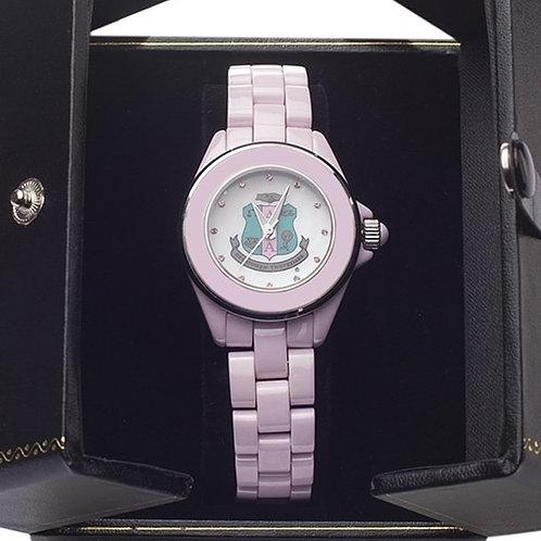 Alpha Kappa Alpha Ceramic Watch