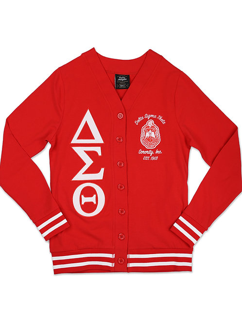 Delta Sigma Theta Light Weight Cardigan Red