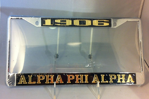 "ALPHA PHI ALPHA ""1906"" PLATE FRAME"
