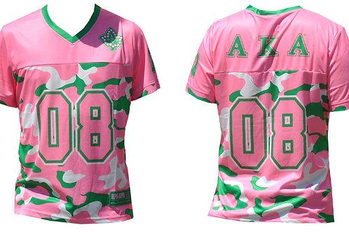 Alpha Kappa Alpha Jersey Tee Pink Camo
