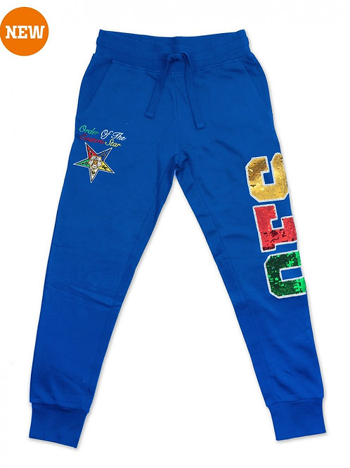 ORDER OF THE EASTERN STAR SEQUIN SWEATPANTS