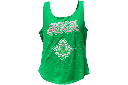Alpha Kappa Alpha Tank Green