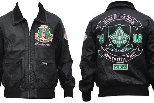 Alpha Kappa Alpha PU Jacket