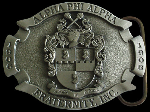 Alpha Phi Alpha Fraternity Pewter Belt Buckle