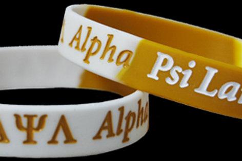 Alpha Psi Lambda 100% Silicone Bracelet