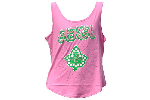 Alpha Kappa Alpha Tank Pink