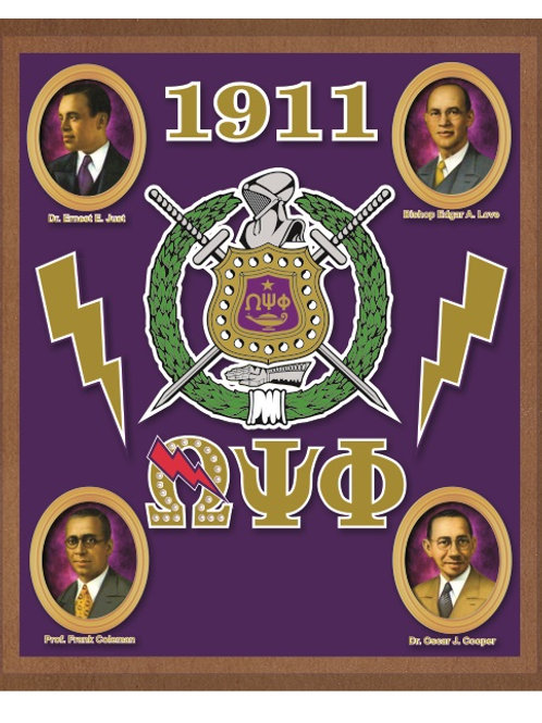 OMEGA PSI PHI ACRYLIC TOPPED WALL PLAQUE