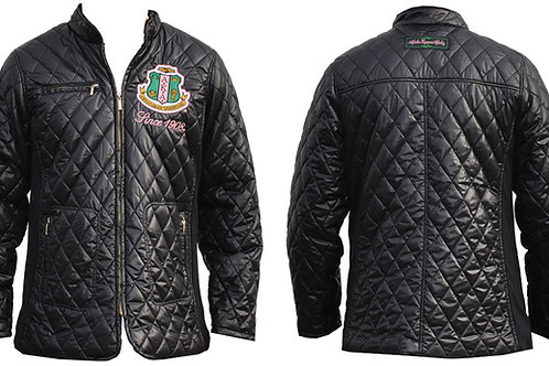 Alpha Kappa Alpha Padded Jacket Black