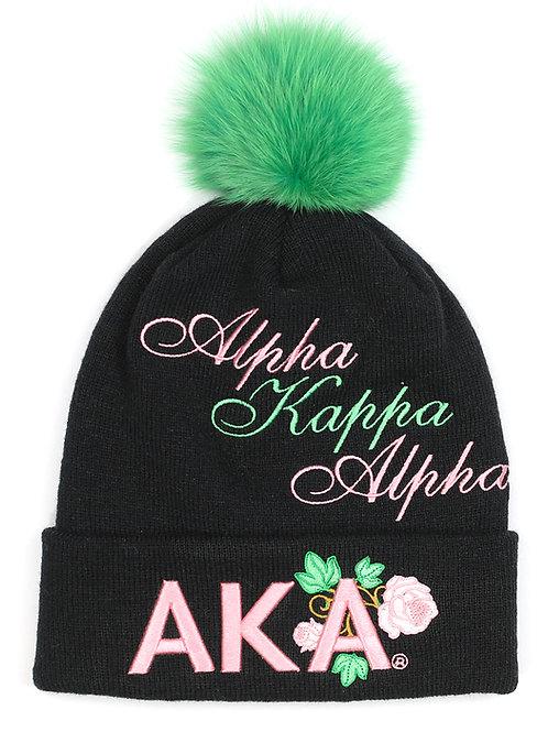 Alpha Kappa Alpha Beanie