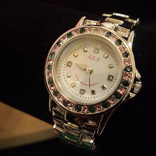 Alpha Kappa Alpha Austrian Crystal Watch