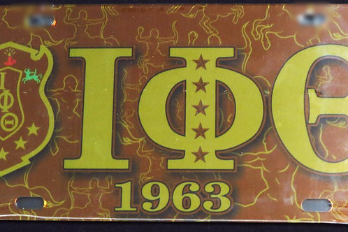 Iota Phi Theta - Printed Crest License Plate