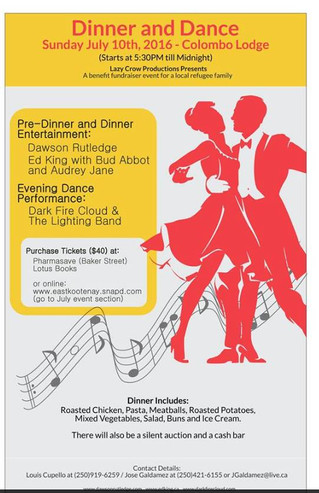 Dinner and Dance to support Kootenays Care for Refugees!