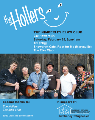 The Hollers playing at the Kimberley Elks Club Feb.25th!