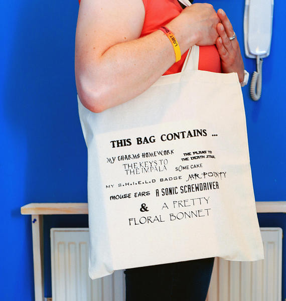 buffy star wars firefly doctor who tote bag from retro geek craft brighton