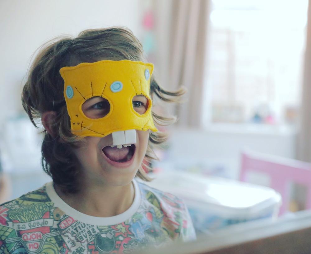 Spongebob felt mask sew me up brighton market paper daisy events