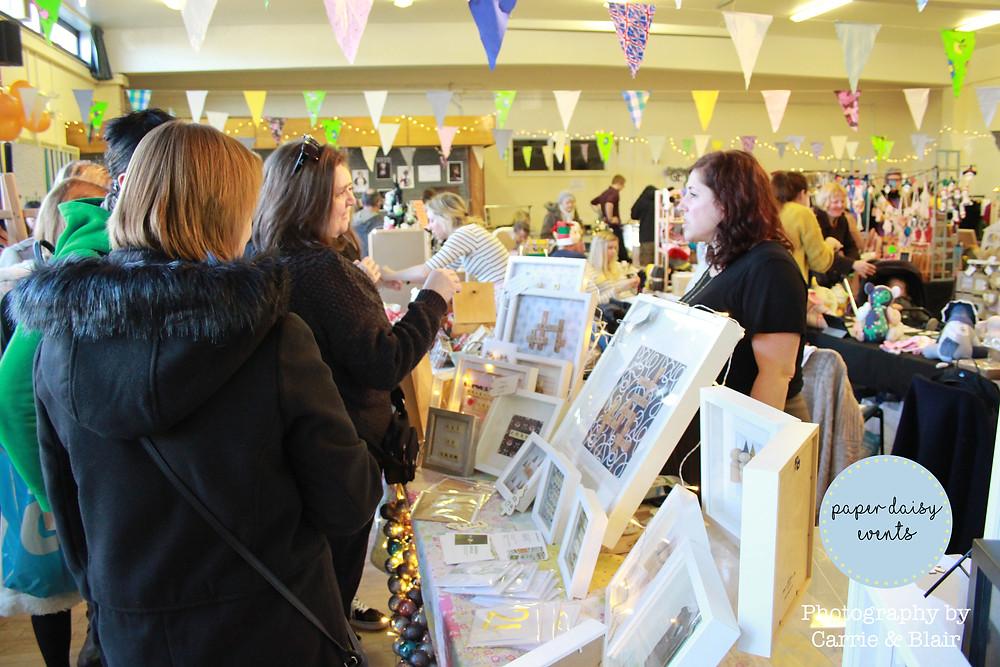 Brighton craft fair paper daisy event