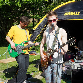 Running Reds live band playing Paper Daisy Events Brighthelm Centre Gardens Brighton