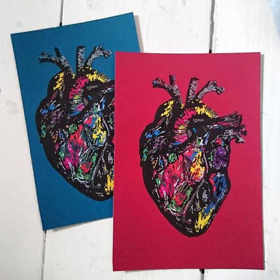 protease prints handdrawn anotomical art craft market shoreham brighton