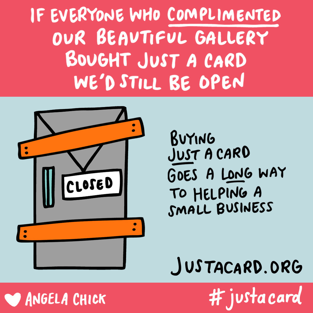 Angela Chick just a card campaign support local makers