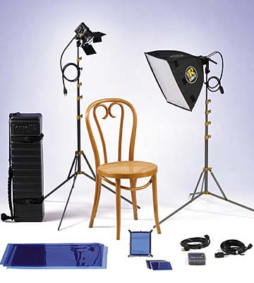 Rifa Lowel 3 Point Lighting + Gels
