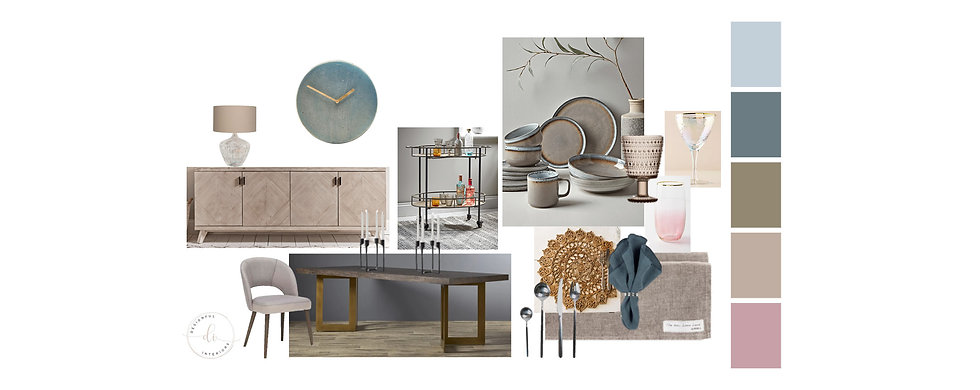 Dining curated product moodboard templat
