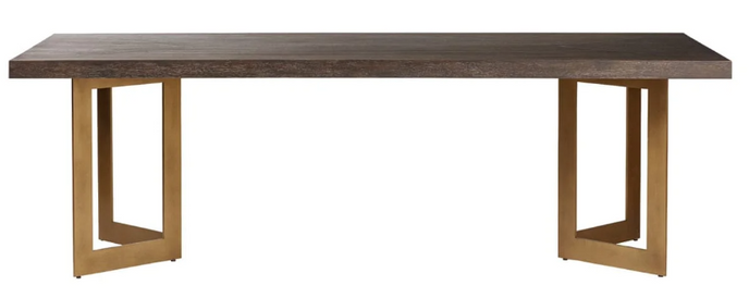 LARGE APSE DINING TABLE - CAROB