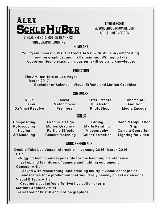 schlehuber-vfx | Résumé