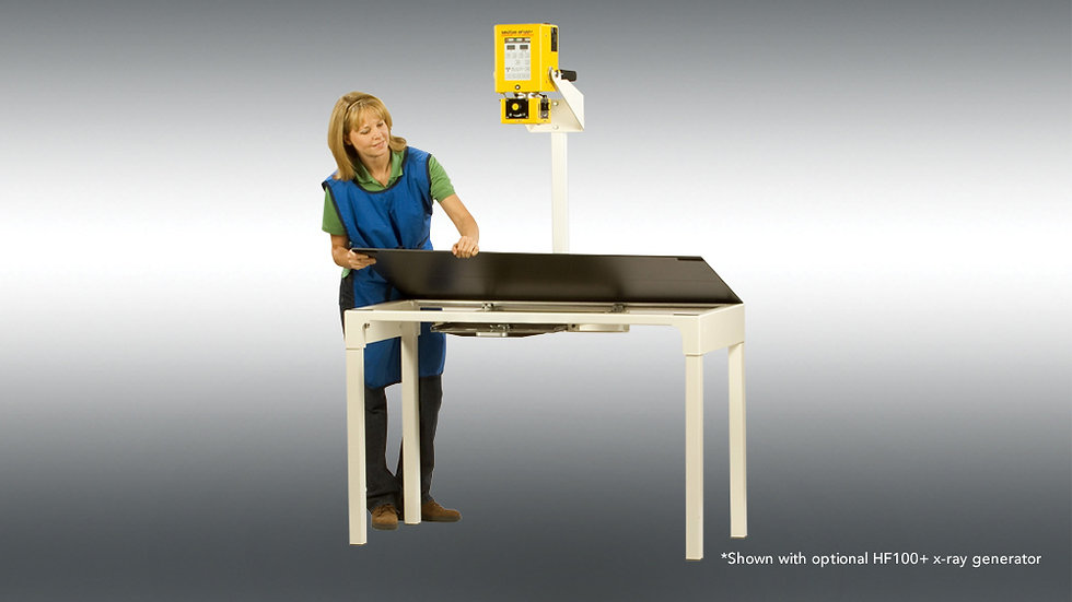 XRT100+ compact table with optional HF100+ x-ray generator