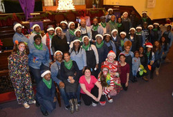 Group Shots in Santa hats