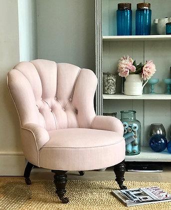 Pink Linen Chair