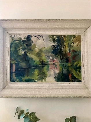 French Oil Painting 'Reflection'