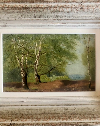 19th Century Oil Painting 'Trees'