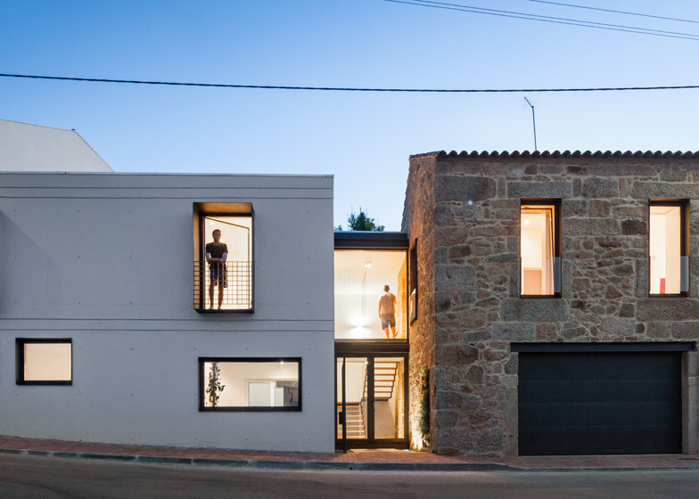 concrete extension to a stone house  Farmhouse renovation Filipe Pina and Maria Inês Costa